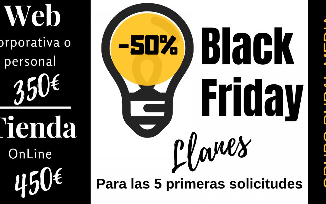 BLACK FRIDAY LLANES – mejor precio imposible!! en diseño web