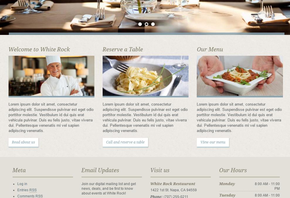Propuestas de Diseño Web Restaurantes